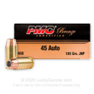 45 ACP  185 gr JHP - PMC - 50 Rounds