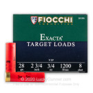 "28 ga - 2-3/4"" #8 Target - Fiocchi - 25 Rounds"