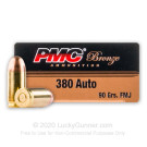380 Auto - 90 Grain FMJ - PMC - 50 Rounds