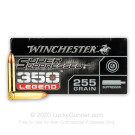 350 Legend - 255 Grain Open Tip Subsonic - Winchester Super Suppressed - 20 Rounds