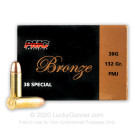 38 Special - 132 Grain FMJ - PMC - 50 Rounds
