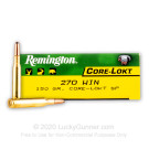 270 - 150 Grain SP - Remington Core-Lokt - 200 Rounds