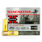 "20 Gauge - 2-3/4"" 5/8 oz. Sabot Slug - Winchester Super-X - 5 Rounds"