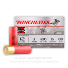 "12 Gauge - 3"" 00 Buck - Winchester Super-X - 15 Rounds"