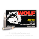 308 - 150 Grain FMJ - Wolf Performance - 500 Rounds