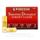 """20 Gauge - 2-3/4"""" 7/8oz. #8 Shot - Fiocchi - 250 Rounds"""