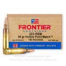 223 Rem - 55 Grain HP Match - Hornady Frontier - 150 Rounds