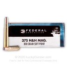 375 H&H - 300 gr SP - Federal Power-Shok - 20 Rounds