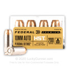 10mm Auto - 200 Grain JHP - Federal Personal Defense HST - 20 Rounds