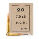 8mm Mauser - 198 Grain FMJ - Greek Military Surplus - 960 Rounds *Corrosive*
