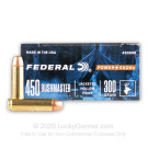 450 Bushmaster - 300 Grain JHP - Federal Power-Shok - 20 Rounds