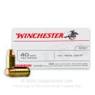 40 S&W - 165 Grain FMJ - Winchester USA - 100 Rounds