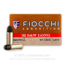 32 S&W Long - 97 Grain LRN - Fiocchi - 1000 Rounds
