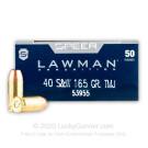 40 S&W - 165 Grain TMJ - Speer LAWMAN - 1000 Rounds