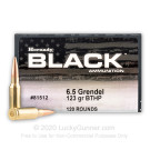 6.5 Grendel - 123 Grain BTHP Match - Hornady BLACK - 120 Rounds