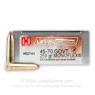 45-70 Government - 250 Grain Monoflex - Hornady LEVERevolution - 20 Rounds