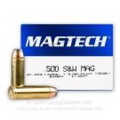500 S&W Magnum - 325 Grain SJSP Flat - Magtech - 20 Rounds