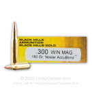 .300 Win Mag - 180 Grain Nosler AccuBond - Black Hills Gold - 20 Rounds