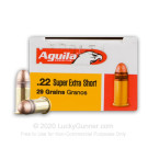 22 Short - 29 gr CPRN - Super Extra - High Velocity - Aguila - 50 Rounds