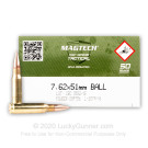 7.62x51mm - 147 Grain FMJ M80 - Magtech - 400 Rounds