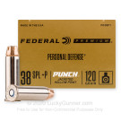 38 Special - +P 120 Grain JHP - Federal Punch - 20 Rounds