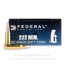 222 Remington - 50 gr SP - Federal Power Shok - 20 Rounds