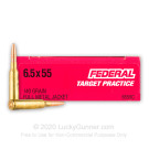 6.5x55 Swedish - 140 Grain FMJ - Federal - 20 Rounds