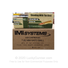 7.62x51mm - 150 Grain FMJ - IMI - 500 Rounds