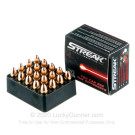 9mm - 124 Grain TMJ Non-Incendiary - Streak Visual Ammunition - 20 Rounds