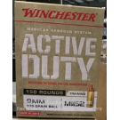 9mm - 115 Grain FMJ M1152 - Winchester Active Duty - 150 Rounds