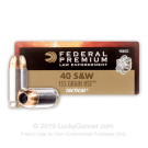 40 S&W - 155 Grain HST JHP - Federal Premium Law Enforcement - 1000 Rounds
