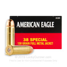 38 Special - 130 Grain FMJ  - Federal American Eagle - 1000 Rounds