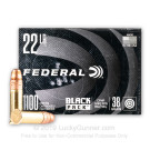 22 LR - 38 Grain CPHP - Federal Black Pack - 1100 Rounds