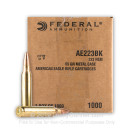 223 Rem - 55 Grain FMJBT - Federal American Eagle - 1000 Rounds