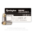 9mm - +P 124 Grain JHP - Remington Golden Saber Black Belt - 500 Rounds