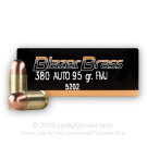 380 Auto - 95 Grain FMJ - Blazer Brass- 1000 Rounds
