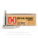 223 Rem - 55 Grain FTX - Hornady Critical Defense - 200 Rounds