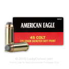 45 Long Colt - 225 Grain JSP - Federal American Eagle - 50 Rounds