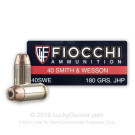 40 S&W - 180 gr JHP - Fiocchi - 1000 Rounds