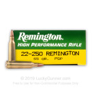 22-250  - 55 gr PSP - Remington Express - 20 Rounds