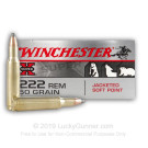 222 Remington - 50 gr JSP - Winchester Super X - 20 Rounds