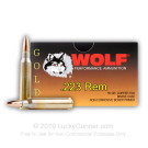 223 Rem - 55 Grain - Wolf Gold FMJ - 1000 Rounds
