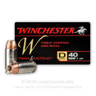 40 S&W - 180 Grain JHP - Winchester W Train and Defend - 200 Rounds