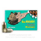 9mm Makarov - 94 Grain FMJ - Brown Bear - 50 Rounds