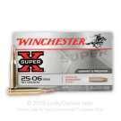25-06 Rem - 90 Grain Positive Expanding Point - Winchester Super-X - 20 Rounds