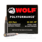 223 Rem - 55 Grain HP - Wolf WPA Polyformance - 500 Rounds