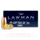 45 GAP - 200 gr TMJ - Speer Lawman - 50 Rounds