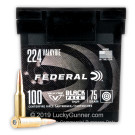 224 Valkyrie - 75 Grain TMJ - Federal Black Pack - 100 Rounds