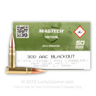 300 AAC Blackout - 123 Grain FMJ - Magtech First Defense - 500 Rounds