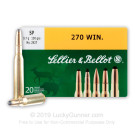270 - 150 Grain SP - Sellier & Bellot - 20 Rounds